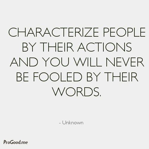 Actions vs words | words to follow | Life quotes, Time