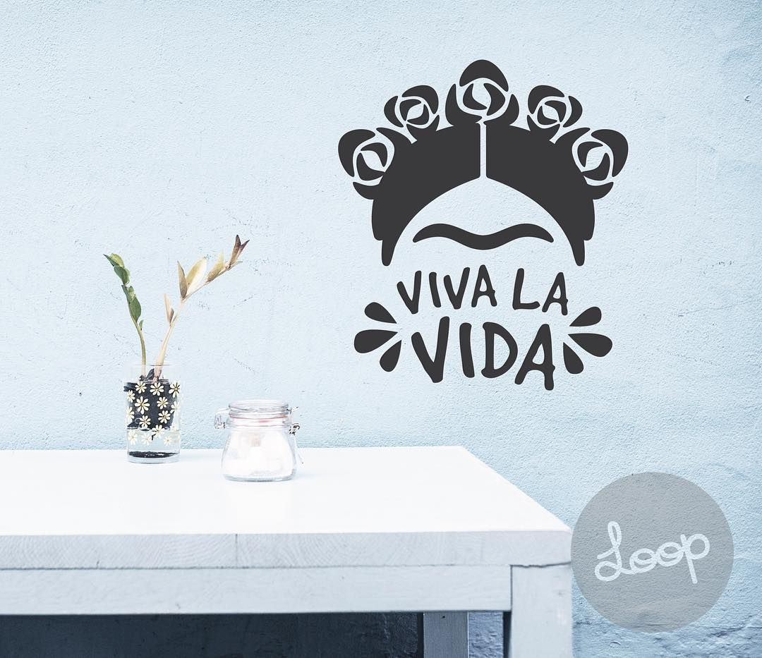 Macetas De Colores Letra Pin De Kat En Wall Decal | Frida Kahlo, Frida Kahlo Dibujo