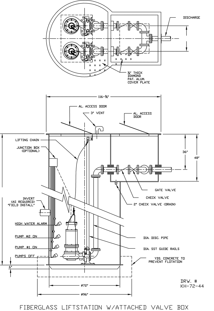 sewer pump station diagram