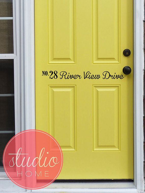 PERSONALIZED ADDRESS- Wall Art - Wall Vinyl - Wall Sticker - Wall ...
