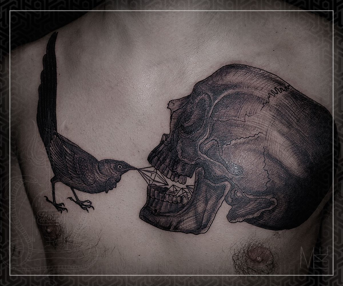 Mike amanita a pro tattoo artist he seems to have mastered the