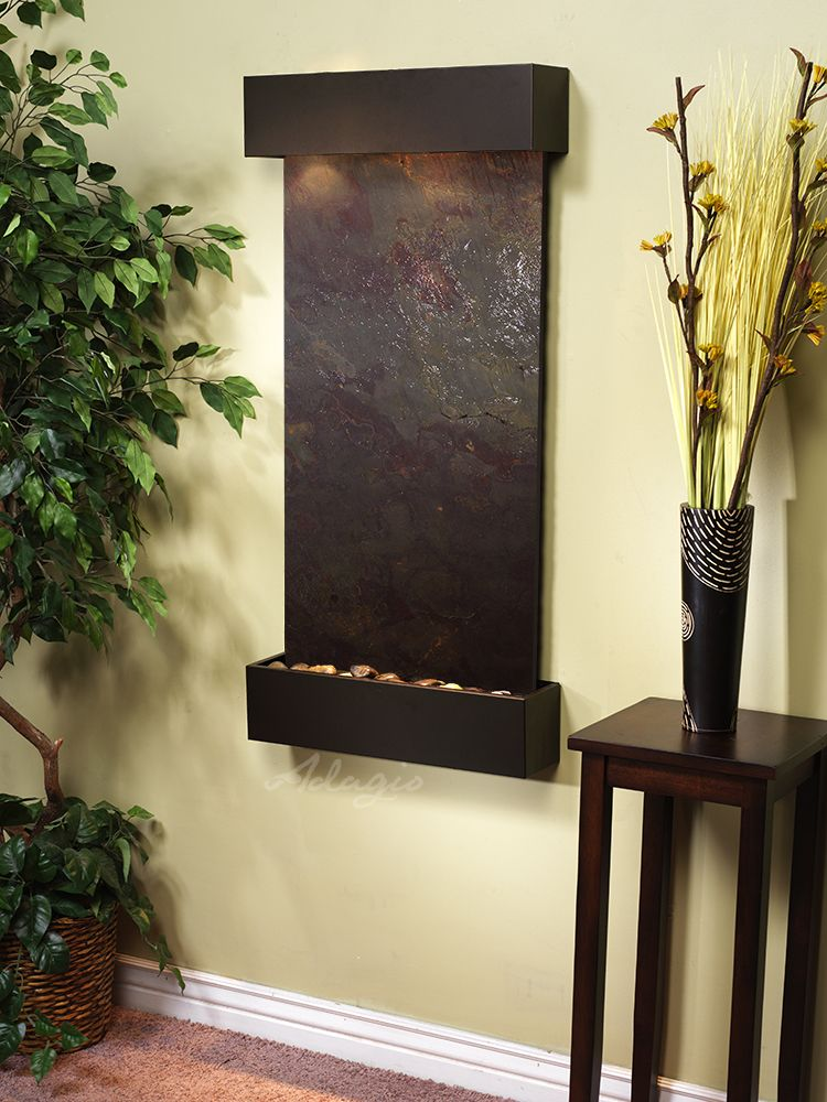 The Whispering Creek Wall Water Fountain Is Both Physically Beautiful And Totally Perfect Positioned Vertically The Sleek Precise Wate Wall Fountain