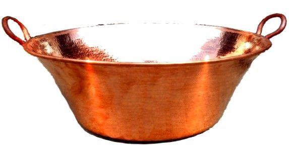 Cazo copper cazos de cobre large selection of the latin - Cazuelas de cobre ...