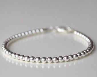 bead bracelet ball back s mother silver round beads tiny mothers blessings sterling