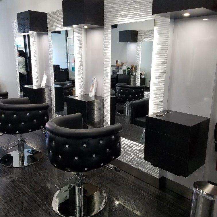 Custom salon furniture by Louis at salon interiors.  Salon