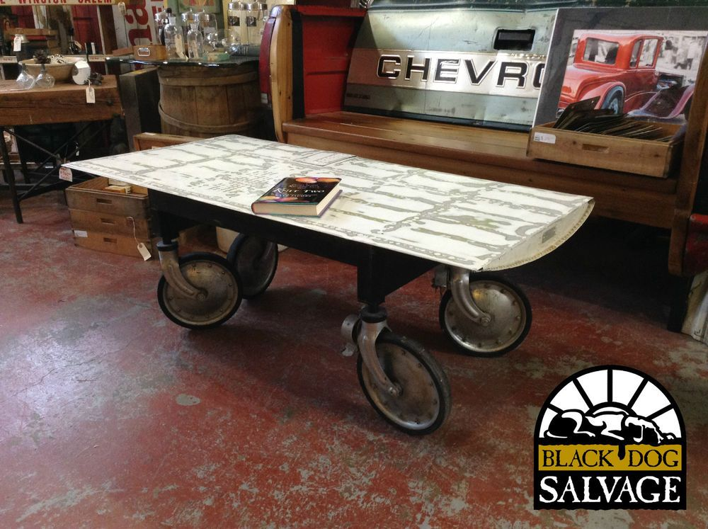 Bds Custom Airplane Wing Coffee Table 2401 I Think The Casters Are