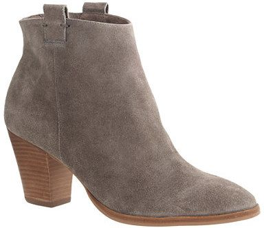 Grey Suede Ankle Boots - Cr Boot