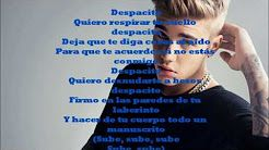 Despacito Lyrics Luis Fonsi Youtube Despacito Lyrics Daddy Yankee Despacito Lyrics