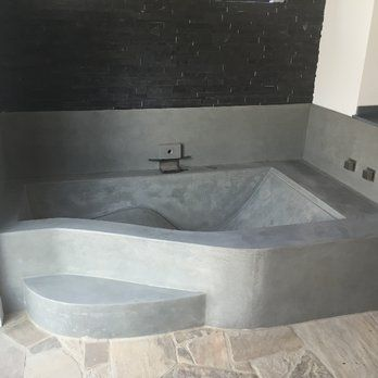 Beautiful Custom Concrete Bathtub Yelp Bagno