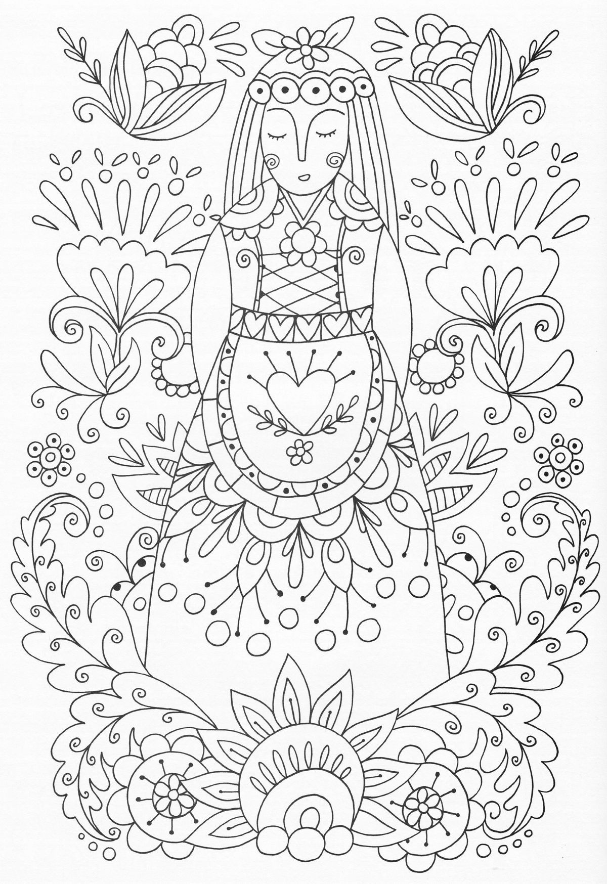 F5da0fa592c5d5d965f25d795b7c93dd Jpg 1 200 1 748 Piksel Scandinavian Embroidery Coloring Pages Folk Embroidery