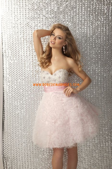 Robe cocktail courte tulle