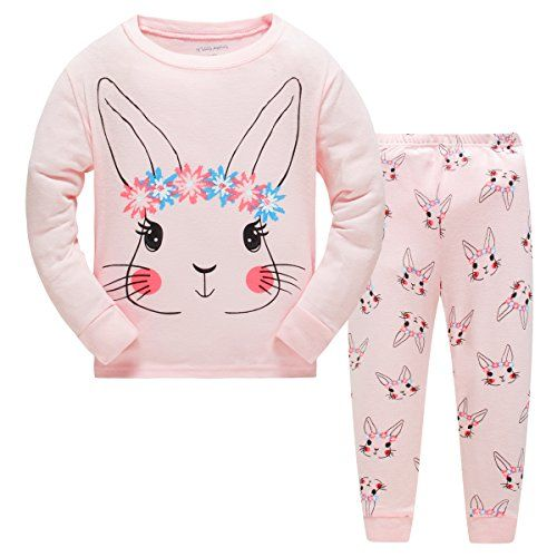 0f0f3e6629 Czofnjesi Girls Pajamas Rabbit with wreath Children Pjs Kids Rib Long  Sleeves Cotton Clothes Set