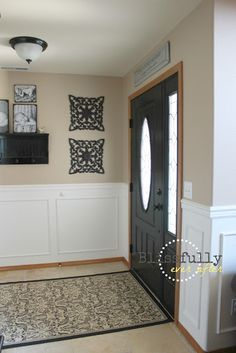 gray living room wood trim cabin - Google Search