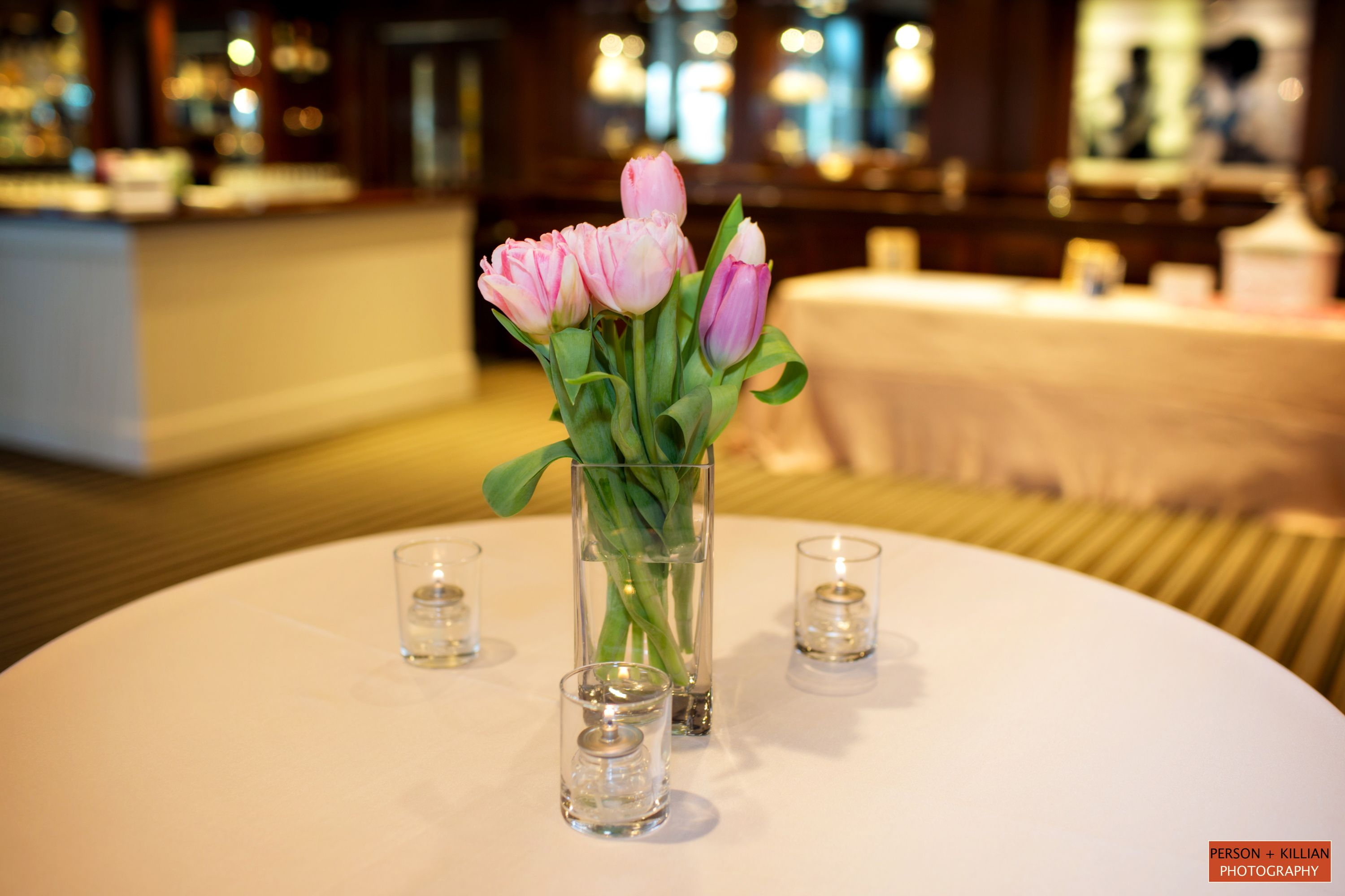 Boston Wedding Photography, Boston Event Photography, Floral Centerpieces,  Pink Tulip Centerpiece, Wedding