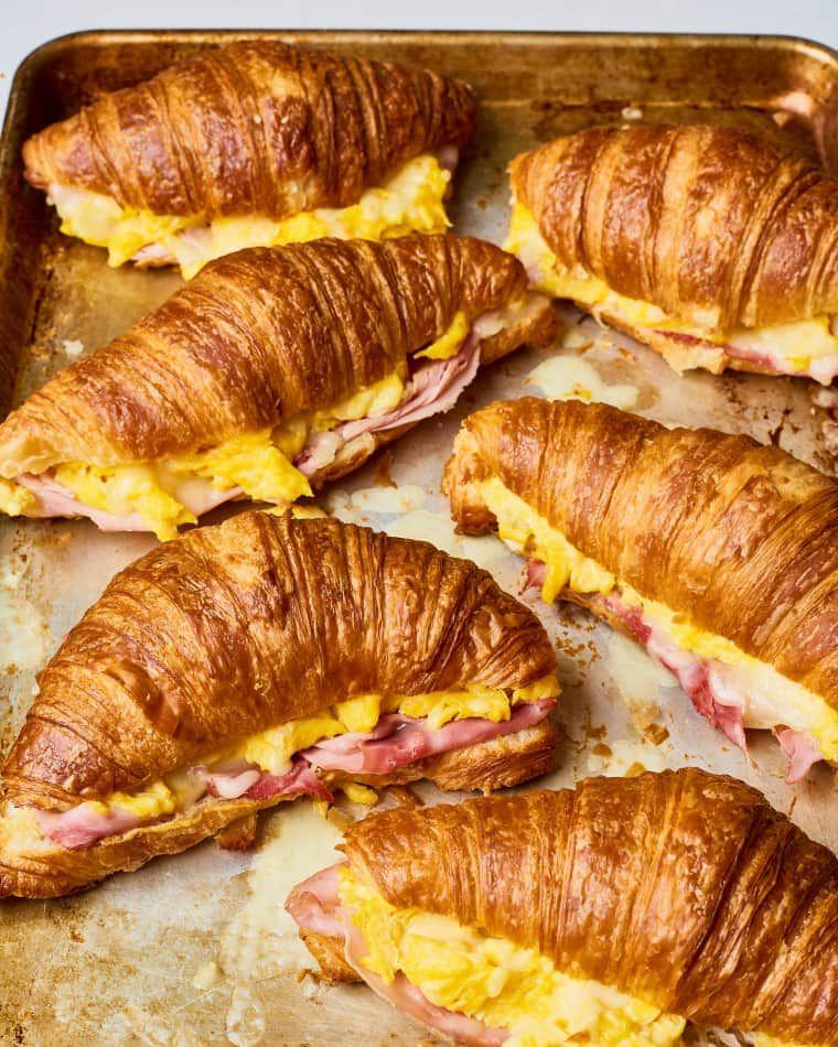 Recipe: Make-Ahead Croissant Breakfast Sandwiches | Kitchn