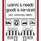 121 pages in this multi-level unit encompassing wants and needs, goods and services, and community helpers. Math activities (adding, graphing, venn...