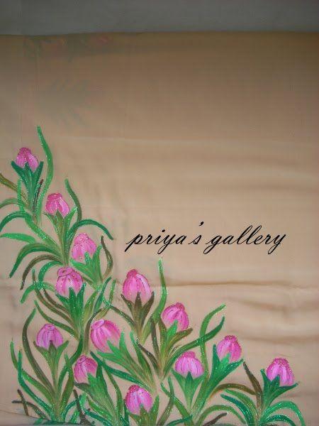 Fabric Painting Designs On Sarees Free