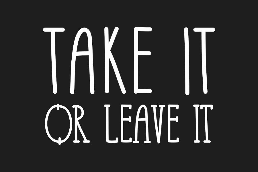 Take It Or Leave It Free Font Free Design Resources Disenos De Unas Identidad Visual Corporativa Fuente Gratis