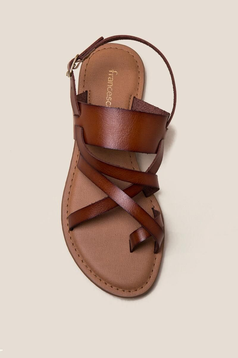 c50cf1bdd8a Selina Toe Ring Gladiator Sandal- Cognac top
