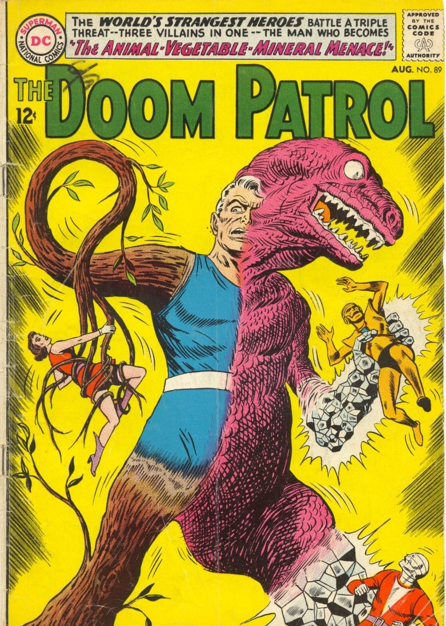 The Doom Patrol 89 August 1964 Cover By Bob Brown Silver Age