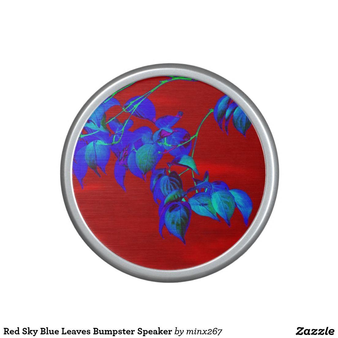 Red Sky Blue Leaves Bumpster Speaker