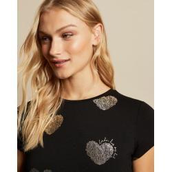 Photo of Slim Heart T-shirt In Foil Ted BakerTed Baker