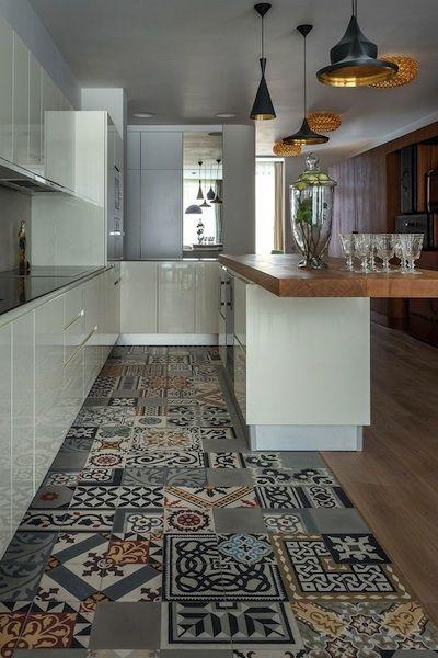 carreaux ciment cuisine salon 1 Pinterest Tile wood, Cement