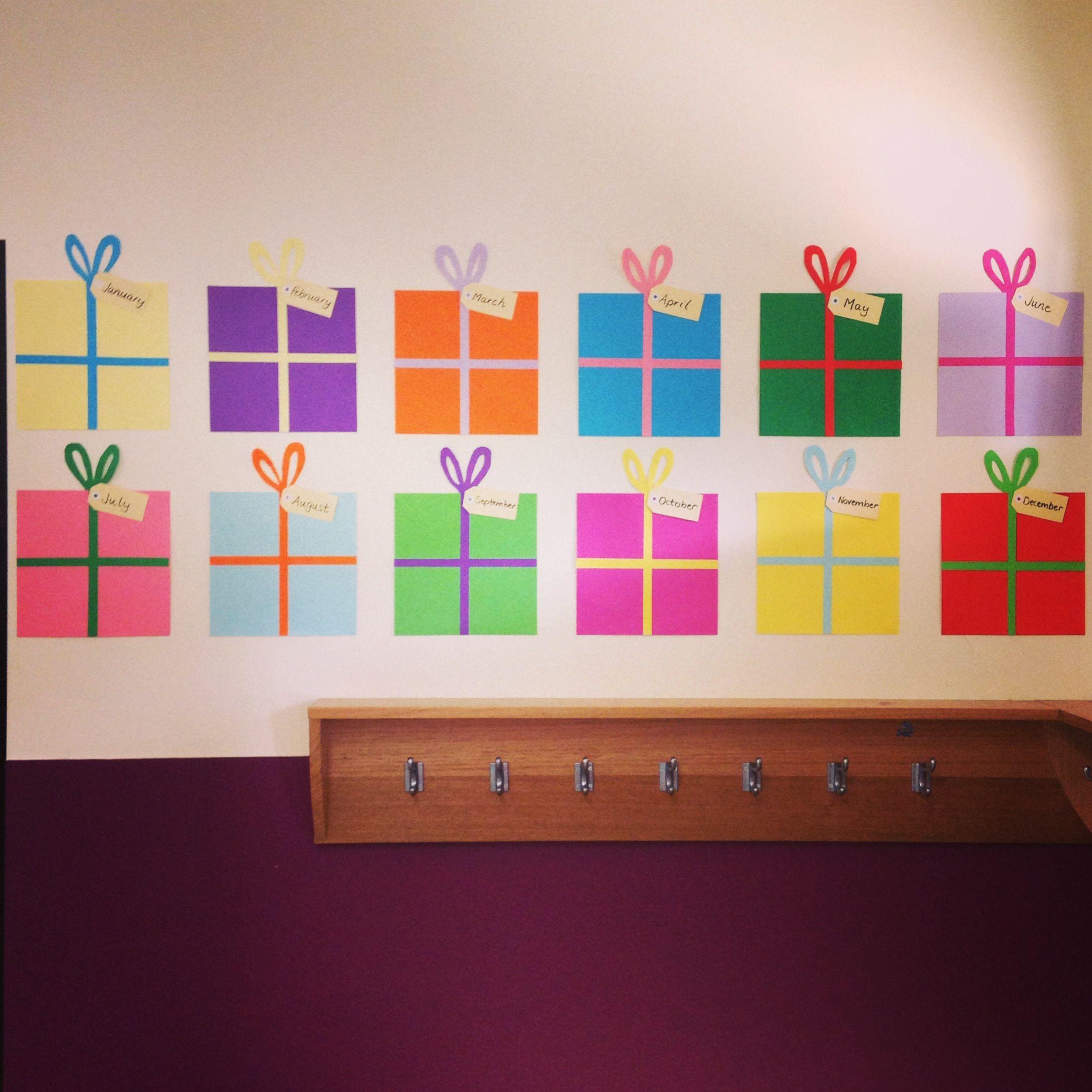 Classroom Wall Decoration With Charts ~ Eyecatching birthday chart http mrsclareandmissm