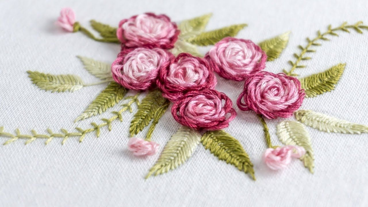Hand embroidery stitch your flower patterns with handiworks hand