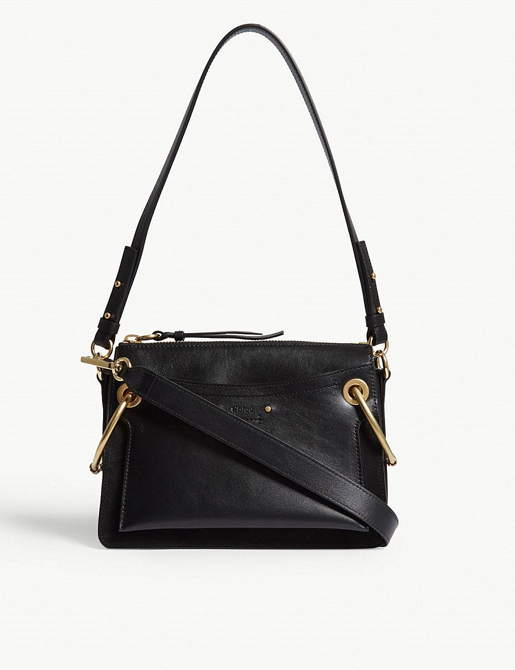 ca1b1dfe642 CHLOE - Roy leather and suede small shoulder bag | Selfridges.com ...