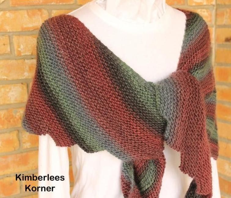 Asymmetrical Knit Wrap | Craftsy -Free Knitting Pattern | Crochet ...
