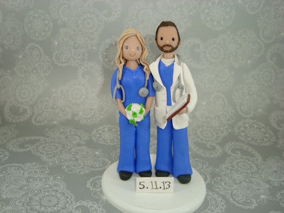 Doctor Nurse Customized Wedding Cake Topper