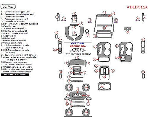 WOW Trim DEDO11A-ROBCF Dodge Durango Interior Main Kit, 32