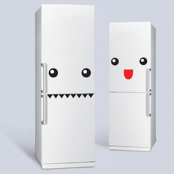 Adesivos deixam a geladeira com uma cara divertida!   ROCK N' TECH