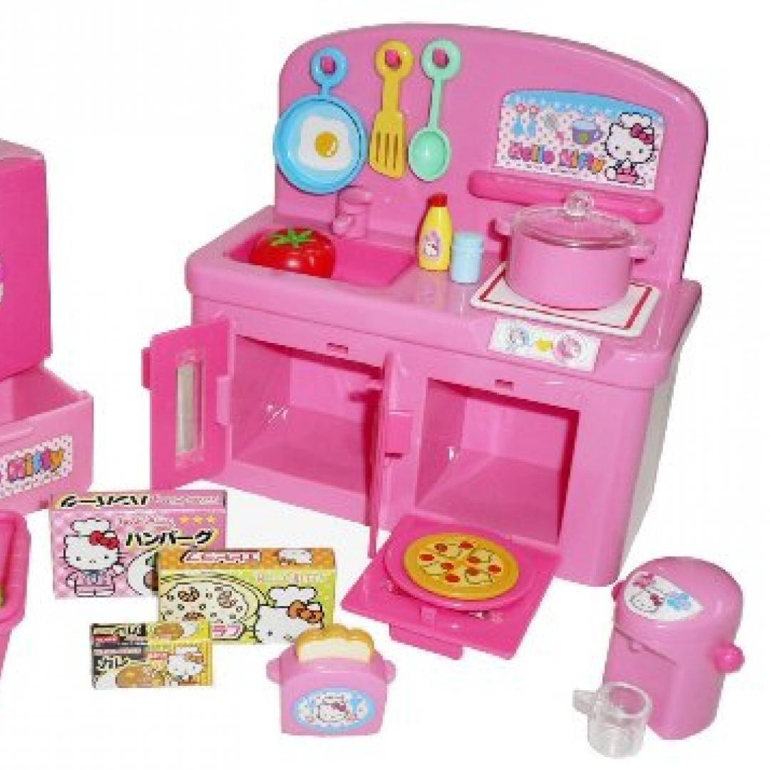 Hello Kitty Kitchen Play Set Miniature Toy Preschool Girl