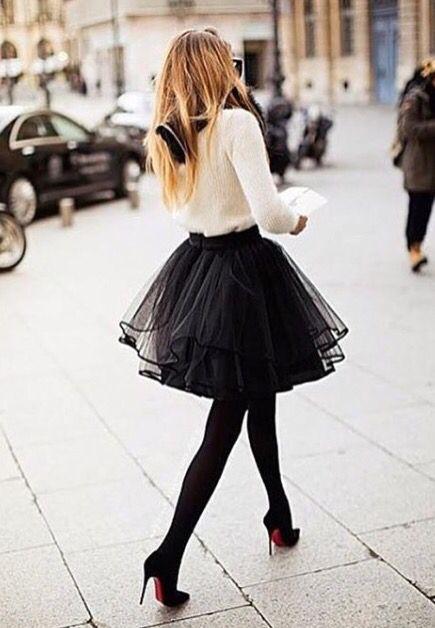 e0d7b738f Falda negra tutu | Vestir lindo MG | Faldas de tul, Faldas y Falda ...