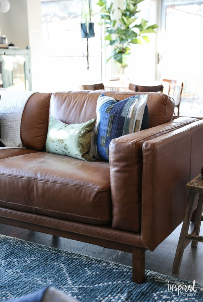 Brown Leather Sofa -Choosing a Rug For My Apartment Living Room ...