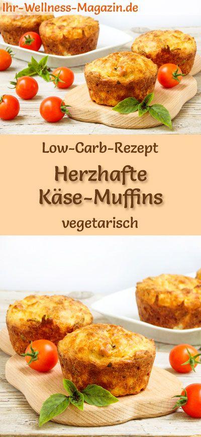 Low Carb Käse-Muffins – gesundes, vegetarisches Hauptgericht