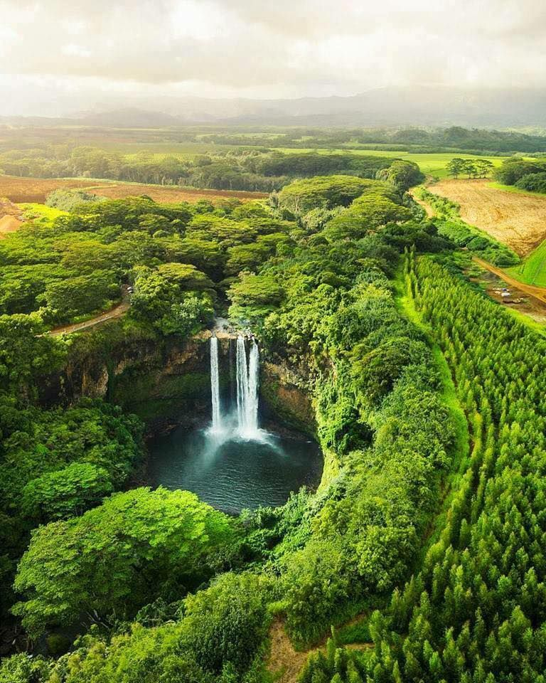 Wonderful Nature In World Beautiful Pictures Waterfall Nature Hawaii Travel