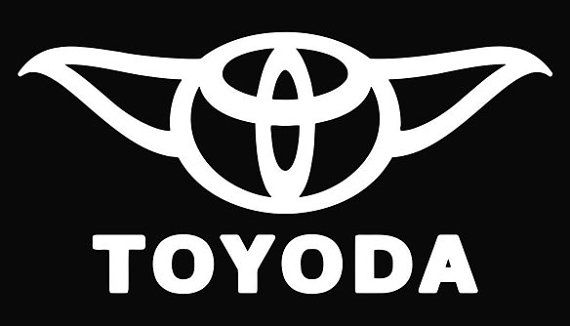 Yoda Starwars parody Toyoda vinyl Decal Sticker Star Wars