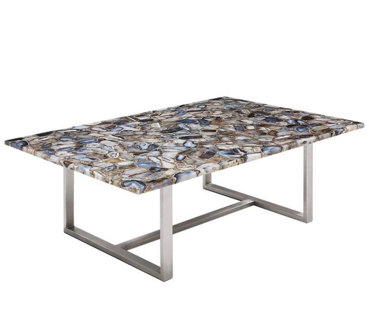 Agate stone coffee table sofa table low table sofa side