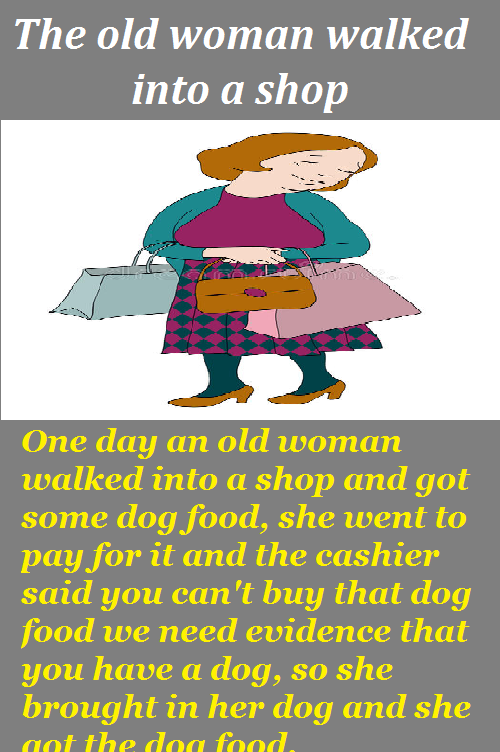 The old woman walked into a shop - Funny Story - FADOTA in ...