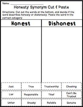 honesty activities worksheets pinterest activities worksheets and teacher. Black Bedroom Furniture Sets. Home Design Ideas