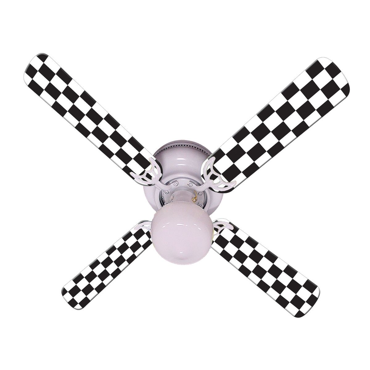 Checkered racing flag fan 42 car themed rooms ceiling fan and checkered racing flag fan 42 aloadofball Image collections