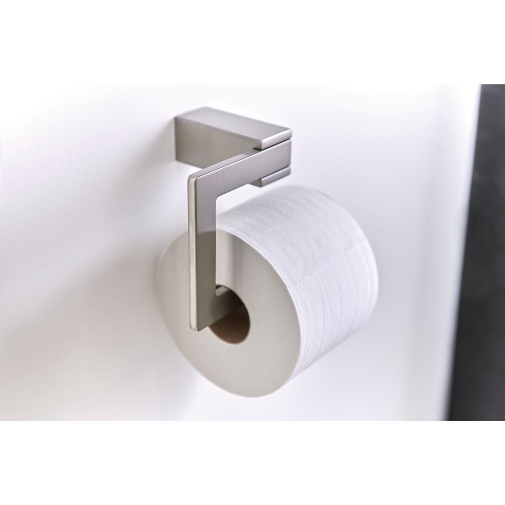 Moen Kyvos Single Post Toilet Paper Holder In Spot Resist Brushed Nickel Bp3708bn The Home Depot Toilet Paper Holder Wall Mounted Toilet Modern Toilet Paper Holders