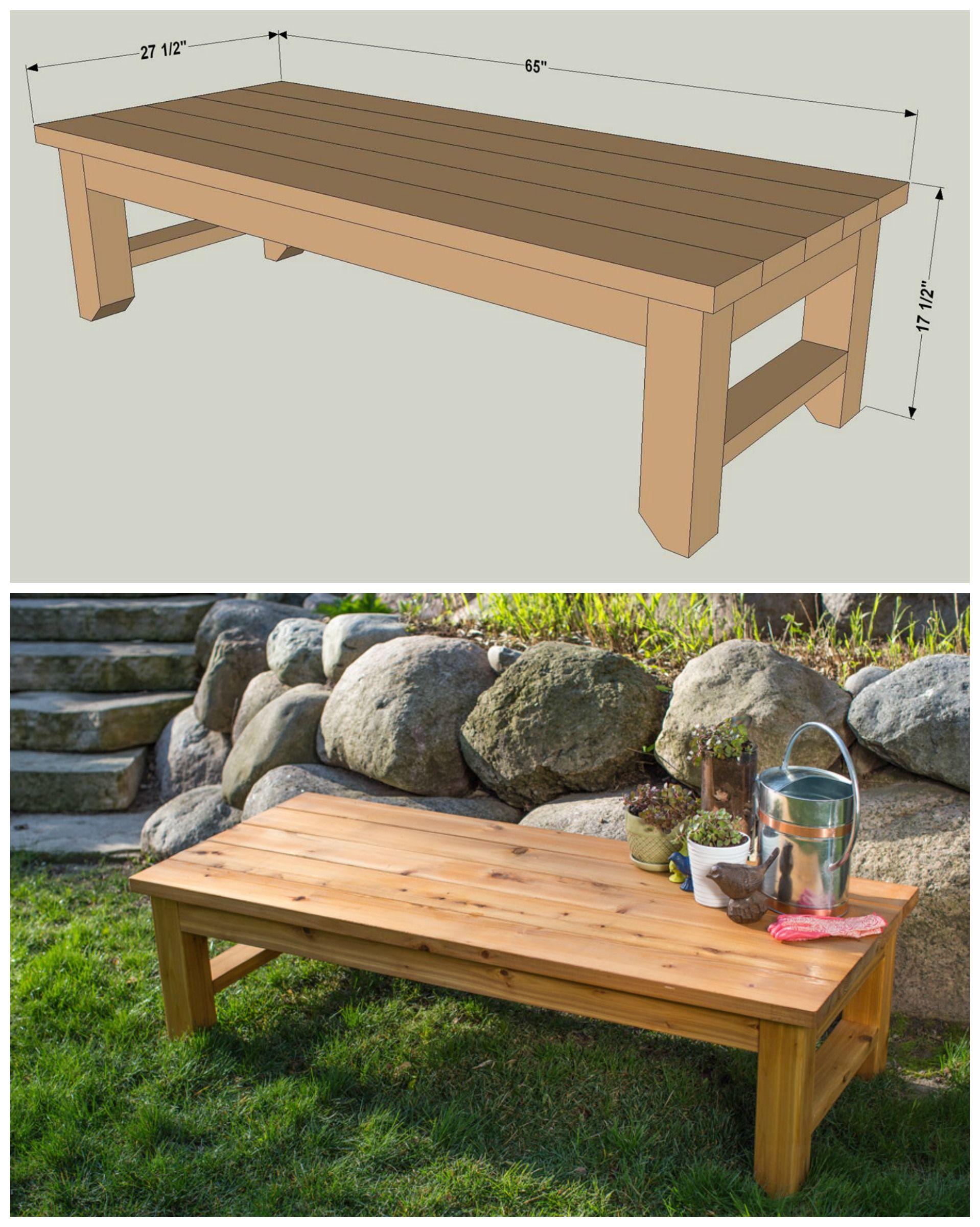 Diy Cedar Bench Free Plans At Buildsomething Com Diy Bench