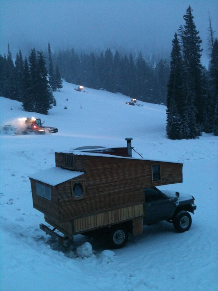 Diy Truck Camper Made From Reclaimed Materials Truck Bed Camper