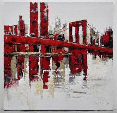 Tableaux d 39 artistes peint la main tableaux peints la for Grand tableau new york