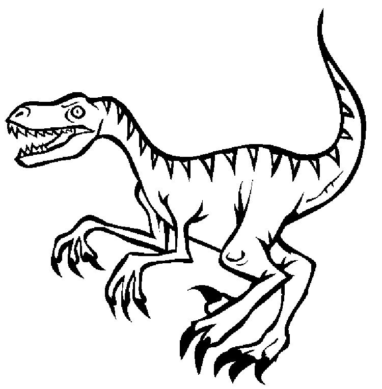 Raptor Dinosaur Coloring Pages Dbest Coloring Pages In