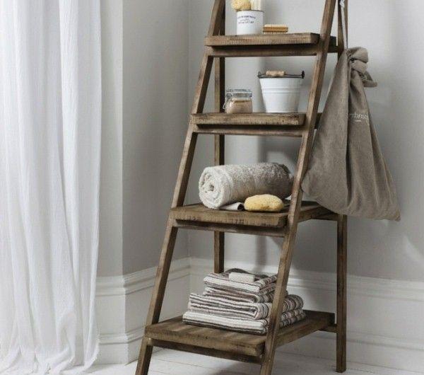 Creative Design Ideas Wooden Ladder Towel Rail